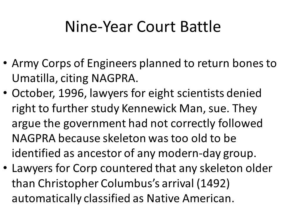 Nine-Year Court Battle Case know as: Bonnichsen et al v.