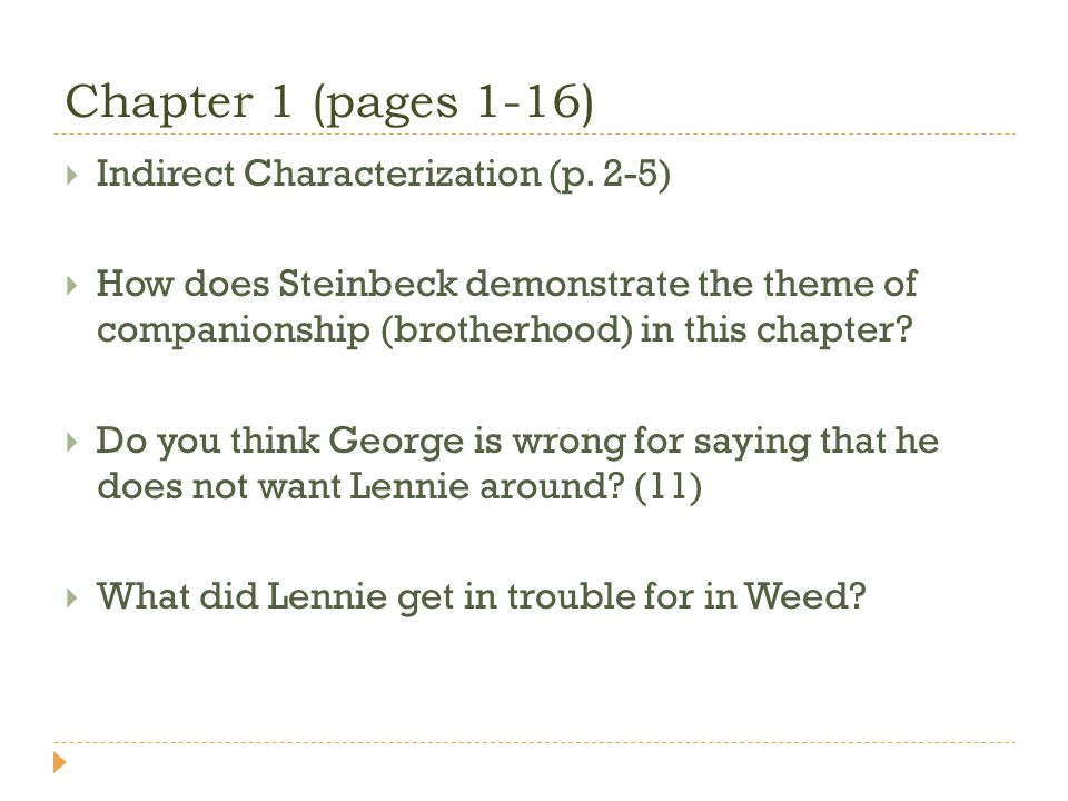 Chapter 1 (pages 1-16) Indirect Characterization (p.
