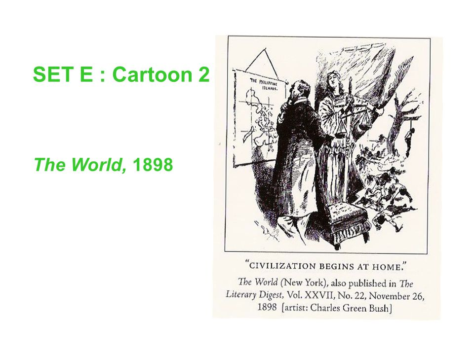 SET E : Cartoon 2 The World, 1898