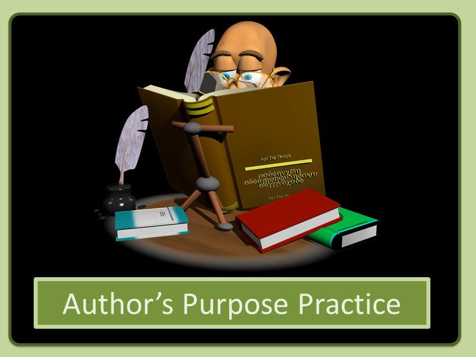Authors Purpose Practice