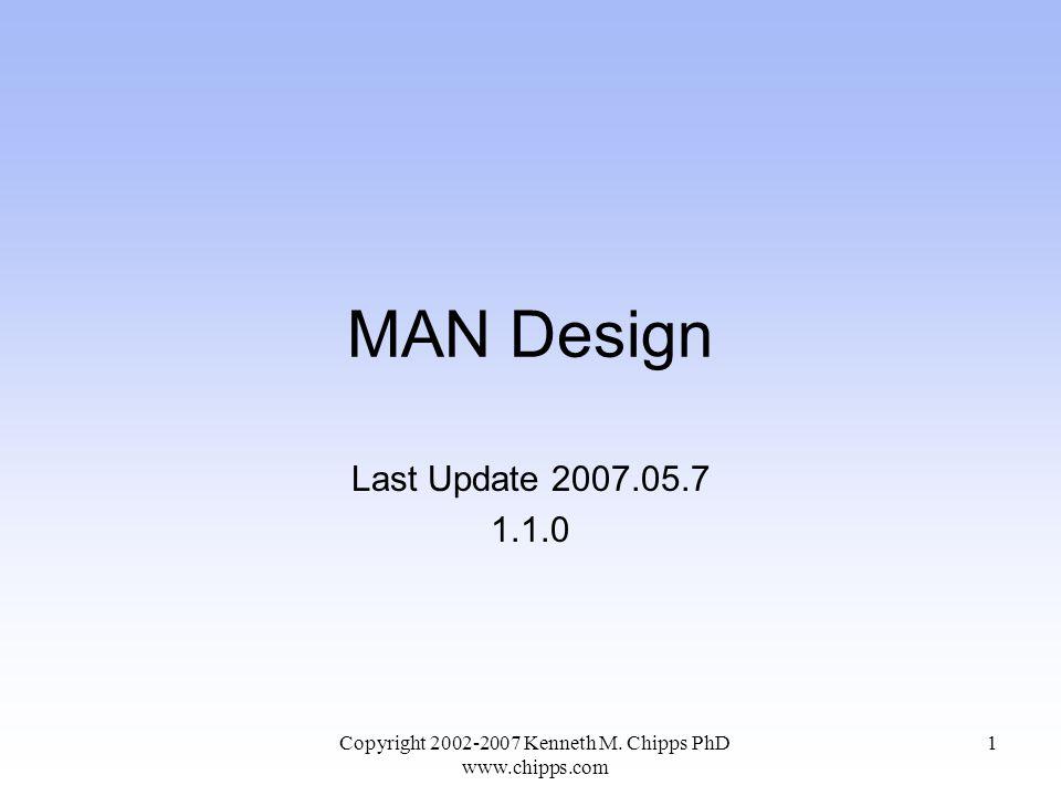 MAN Design Last Update 2007.05.7 1.1.0 Copyright 2002-2007 Kenneth M. Chipps PhD www.chipps.com 1