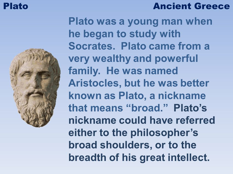 When Socrates died, Plato left Athens for more than a decade.