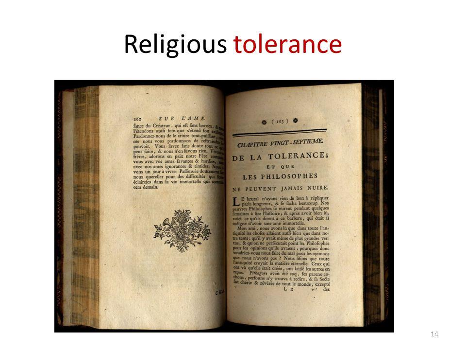 Religious tolerance 14