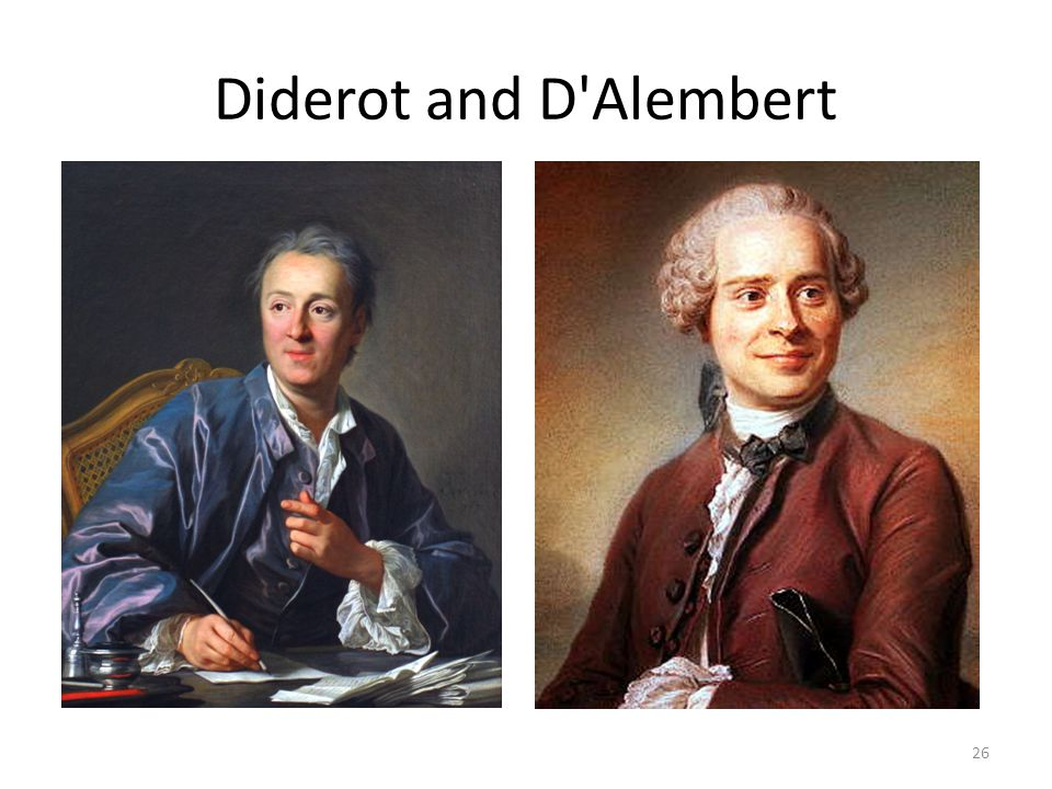 Diderot and D Alembert 26