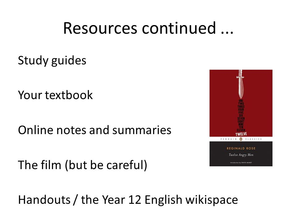 Resources continued...