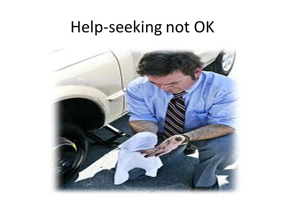 Help-seeking not OK