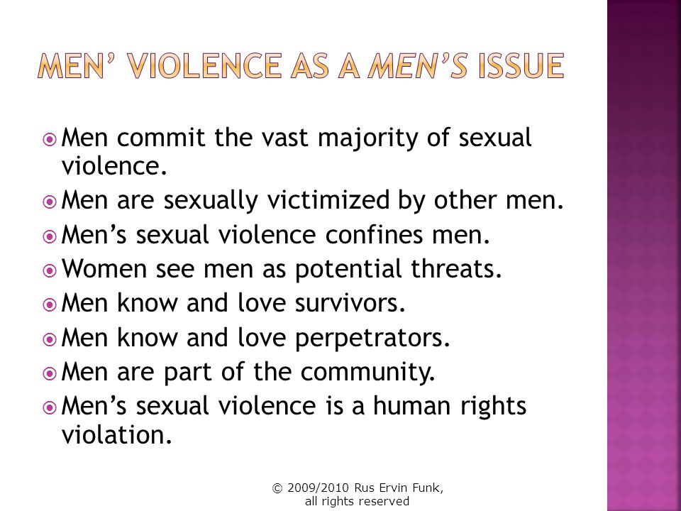 Tend to have minimal or un-known relationship Assume other men (and women) think of men as either victims or offenders other-ing