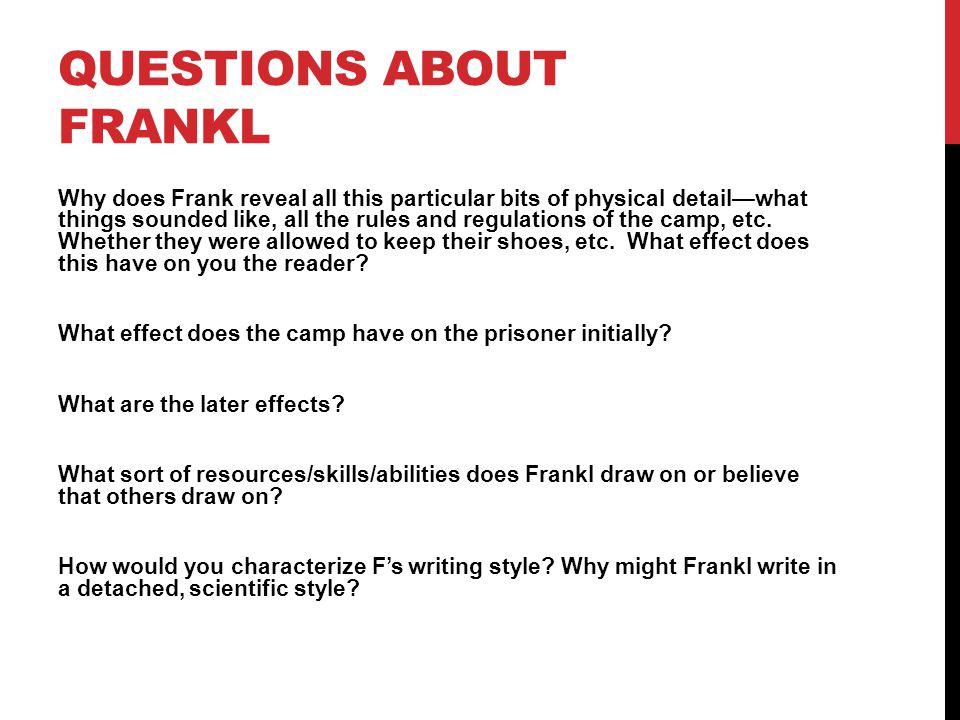 VIKTOR FRANKL Born in Vienna on March 26, 1905.