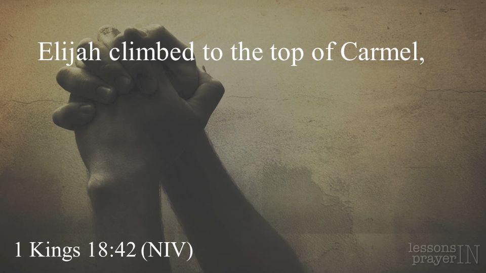 1 Kings 18:42 (NIV) Elijah climbed to the top of Carmel,