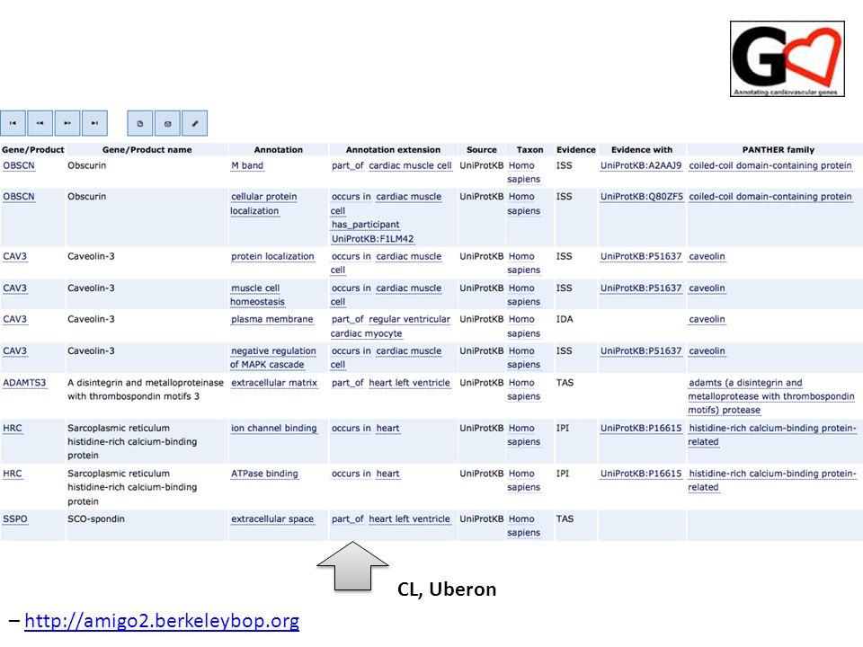 CL, Uberon – http://amigo2.berkeleybop.orghttp://amigo2.berkeleybop.org