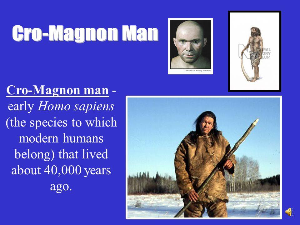 NeanderthalCro-MagnonModern Man