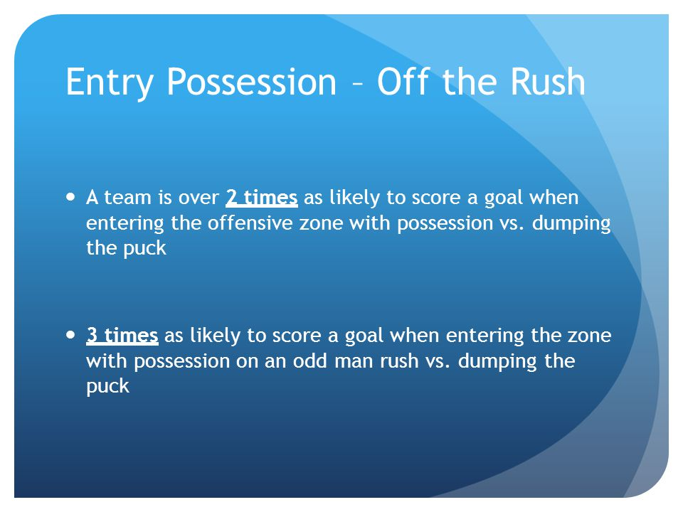 Defensive Zone Coverage Return through the middle and stop in the dice Move and defend as a unit of 5 Eliminate time and space Create layers – Defensive side Use defensive numbers to your advantage Swarm Sticks in passing lanes.