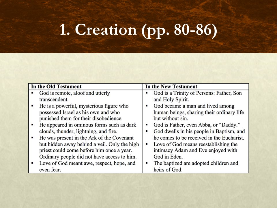 FOCUS QUESTIONS How is Gods act of creation different from a human beings act of creation.