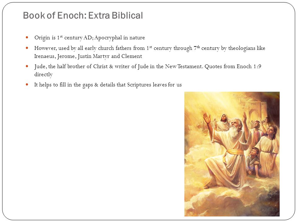 Book of Enoch: Fallen Angels Enoch 6:1-6 tells us some of the interesting things.