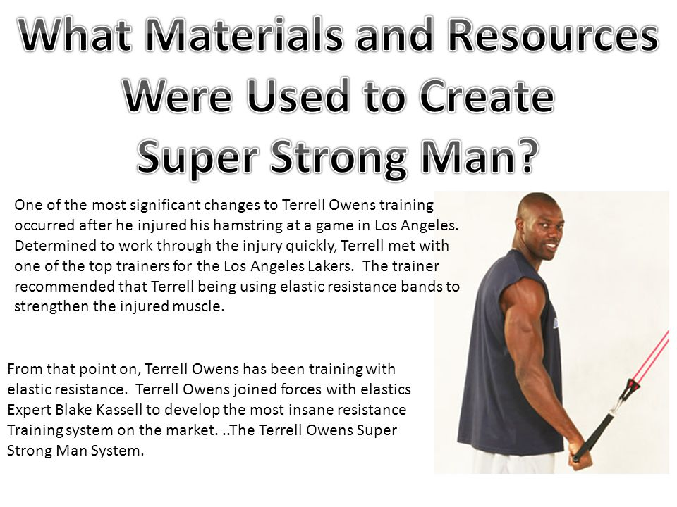 One of the most significant changes to Terrell Owens training occurred after he injured his hamstring at a game in Los Angeles.