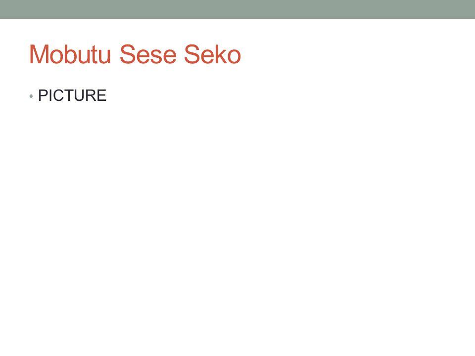 Mobutu Sese Seko PICTURE