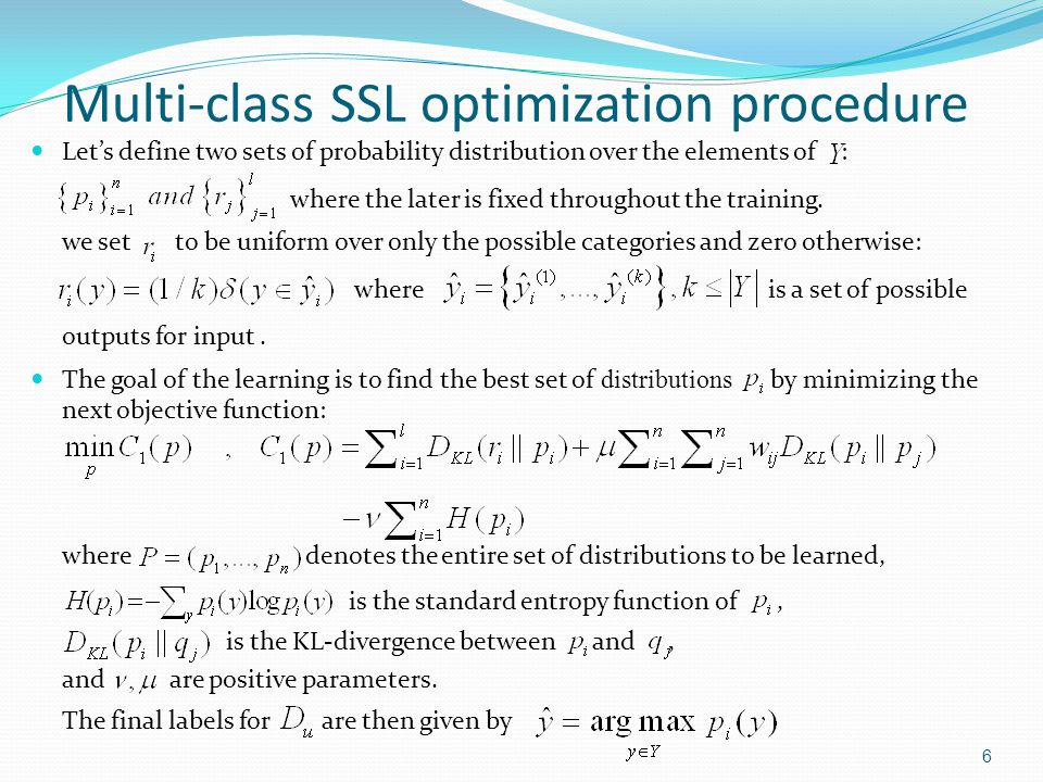 Analysis for the objective function 7