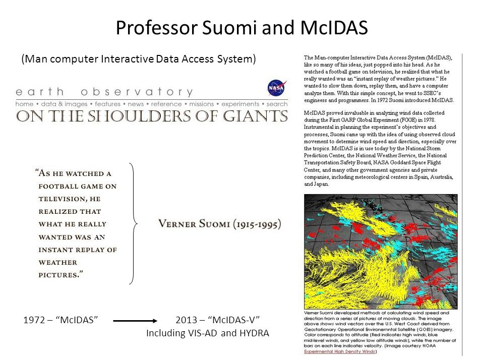 NOAAPORT Signal Clients Servers History of McIDAS ADDE Client-Server Communication (Abstract Data Distribution Environment)