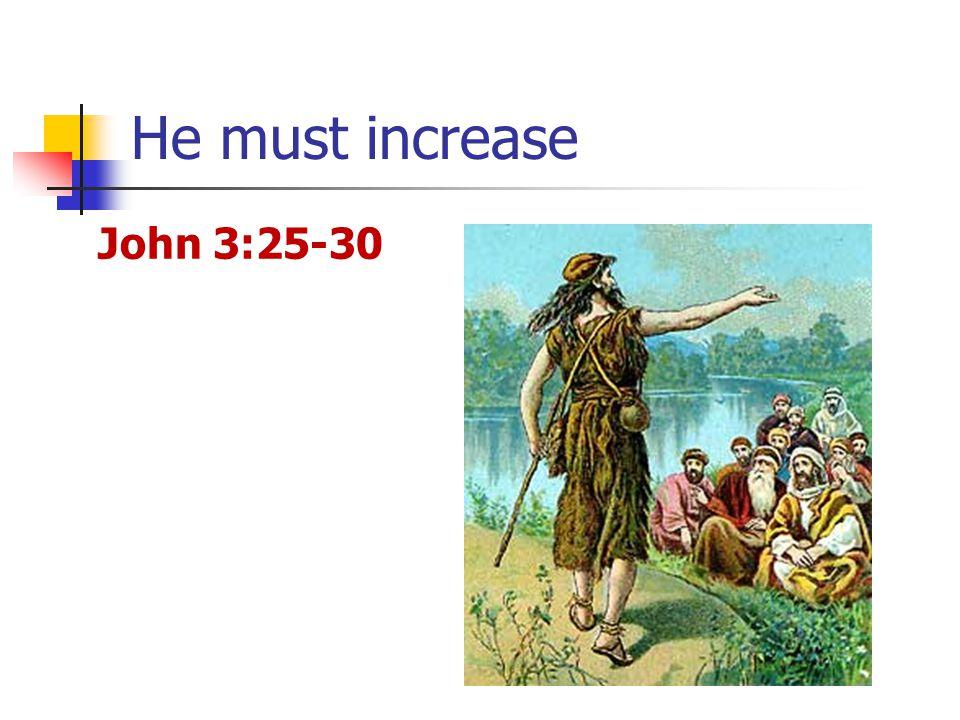 He must increase John 3:25-30