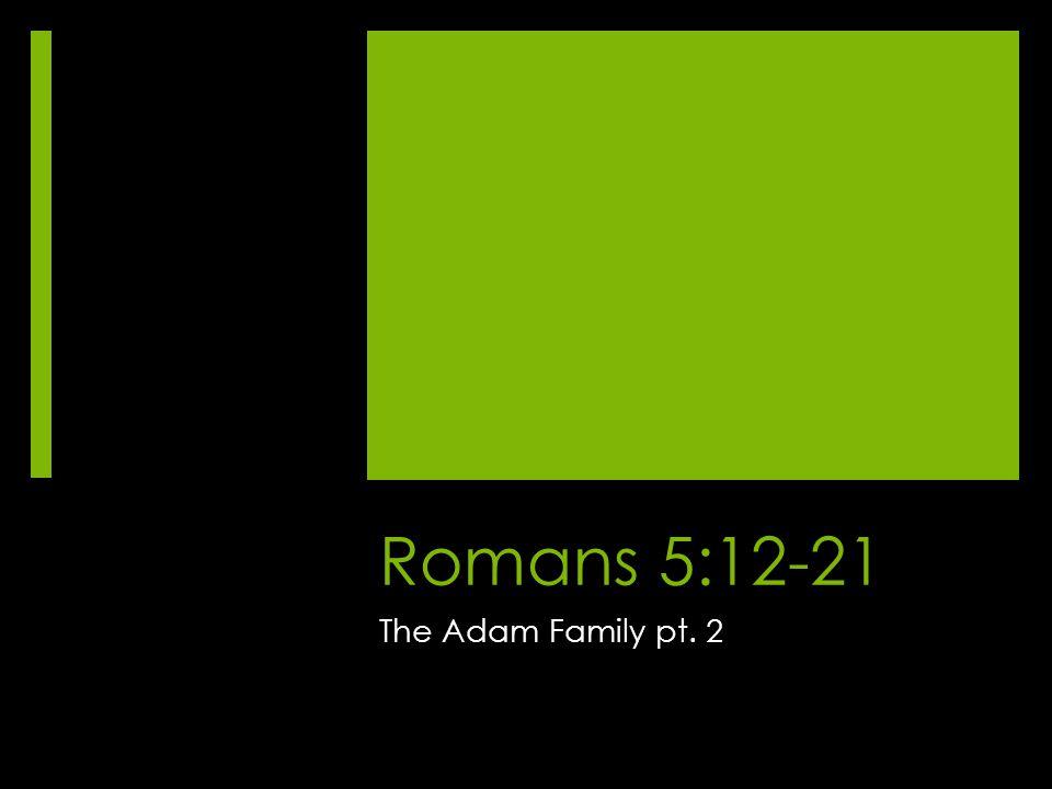 Romans 5:12-21 The Adam Family pt. 2