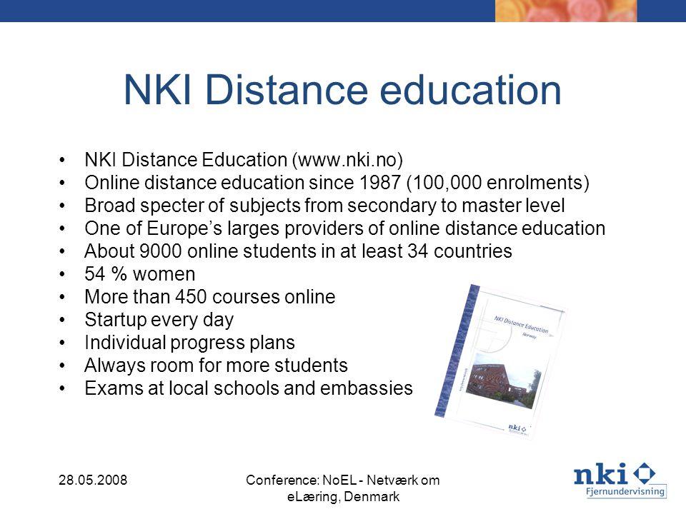 Mobil learning in the beginning 28.05.2008Conference: NoEL - Netværk om eLæring, Denmark