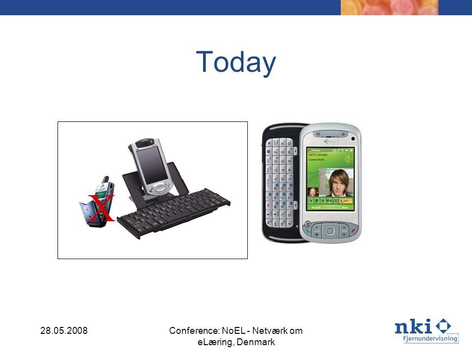 Today X 28.05.2008Conference: NoEL - Netværk om eLæring, Denmark