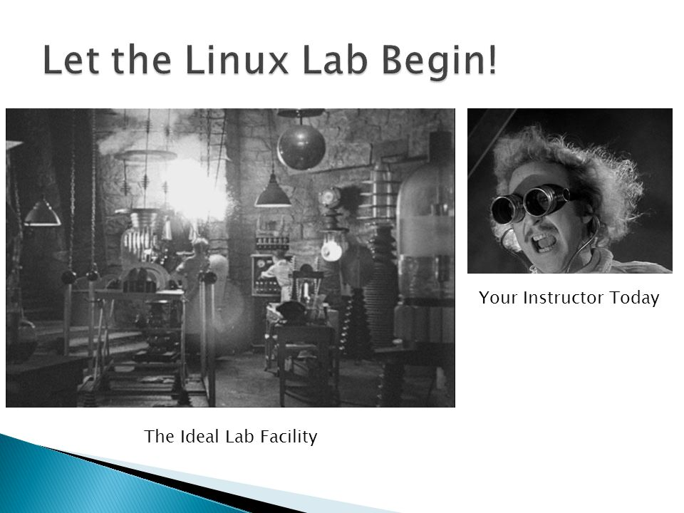 The Ideal Lab Facility Your Instructor Today