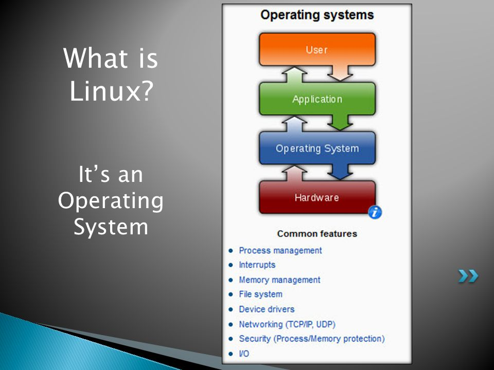 What is Linux? Its an Operating System