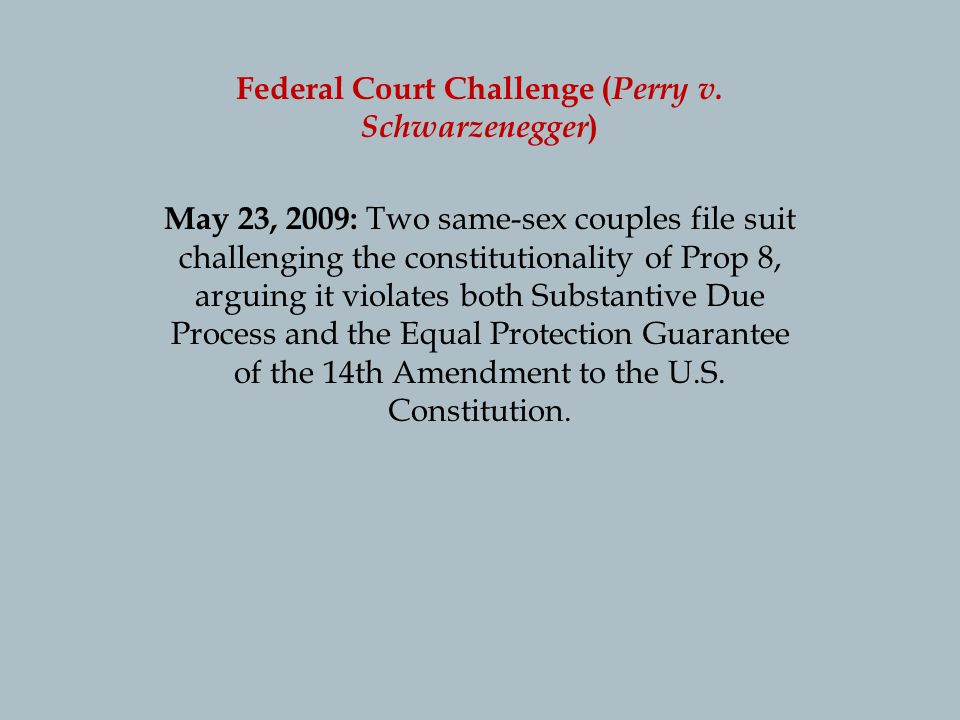 Federal Court Challenge ( Perry v.