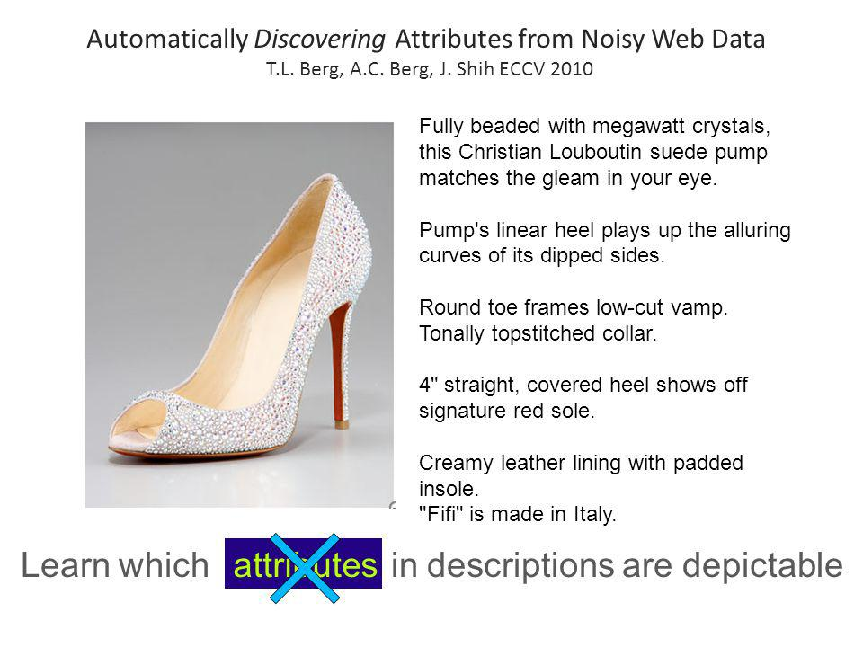 Learn which terms in descriptions are depictable Fully beaded with megawatt crystals, this Christian Louboutin suede pump matches the gleam in your ey
