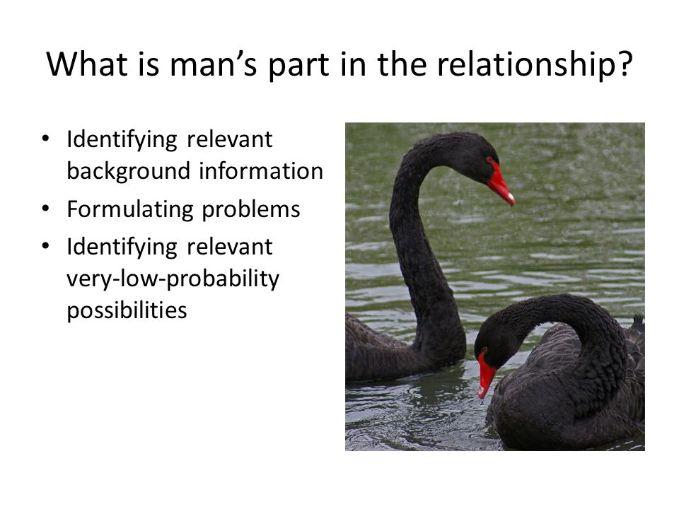 What is mans part in the relationship.