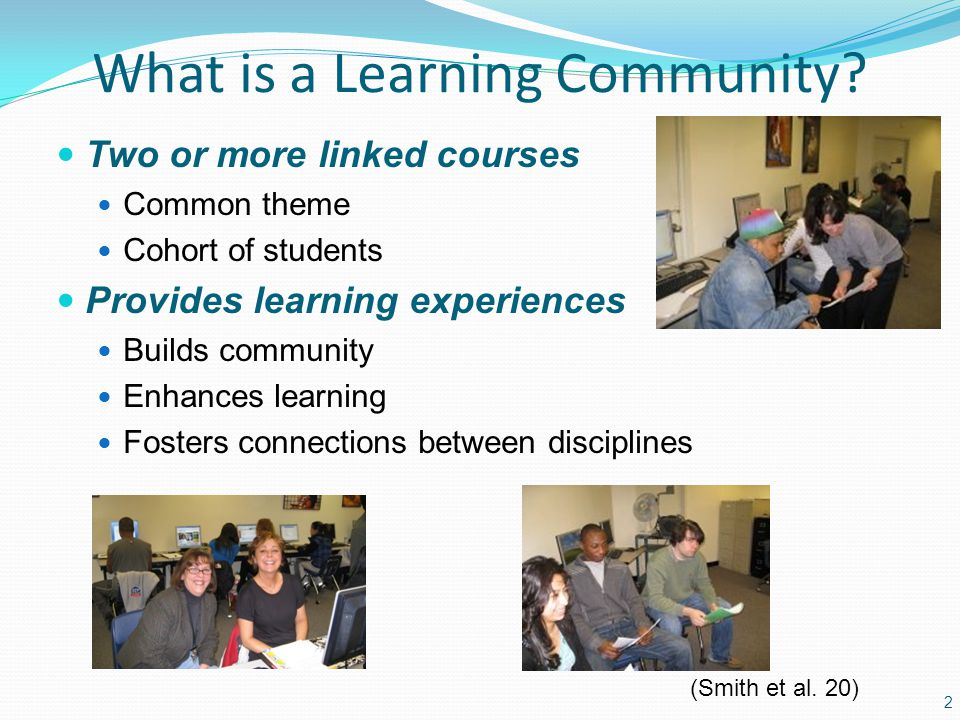What is a Learning Community.
