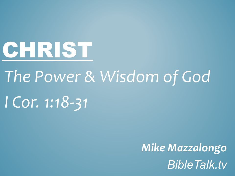 WHAT GOD IMPUTES THROUGH CHRIST Wisdom Righteousness Sanctification Redemption
