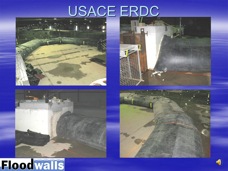 Floodwalls units in place for testing at USACE - ERDC