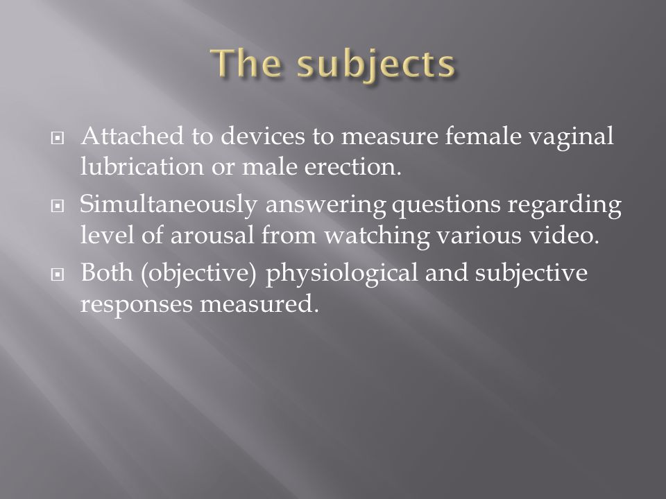 Attached to devices to measure female vaginal lubrication or male erection.