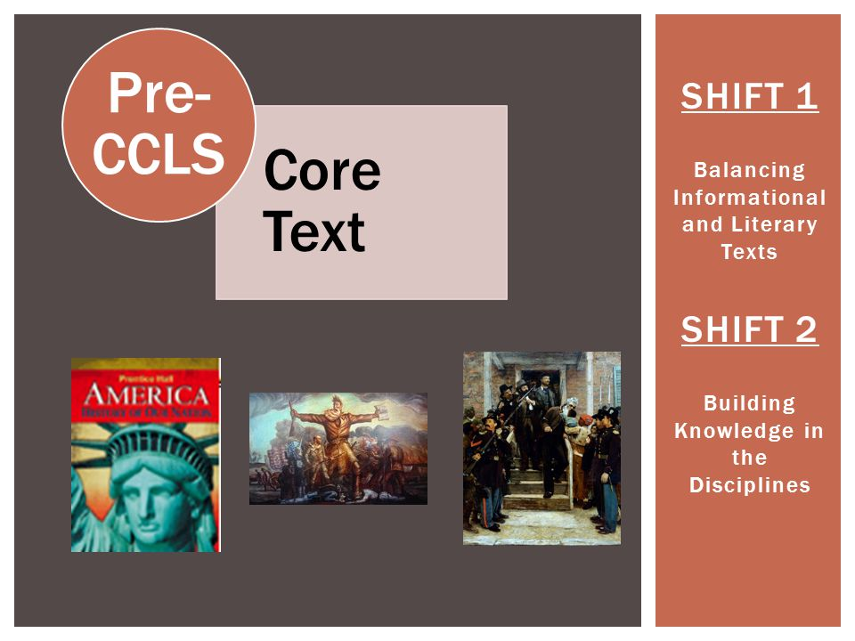 SHIFT 1 Balancing Informational and Literary Texts SHIFT 2 Building Knowledge in the Disciplines Paired Texts: Hero or Villain.