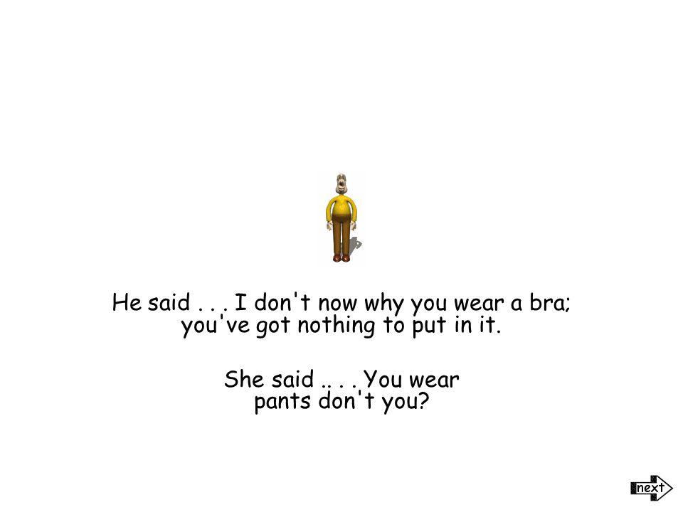 Woman vs. Man -