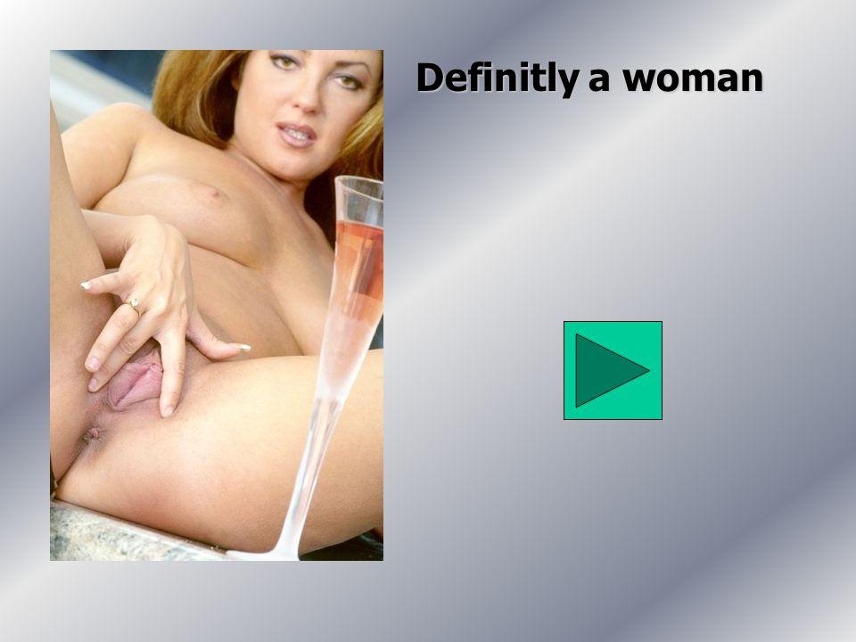 Definitly a woman