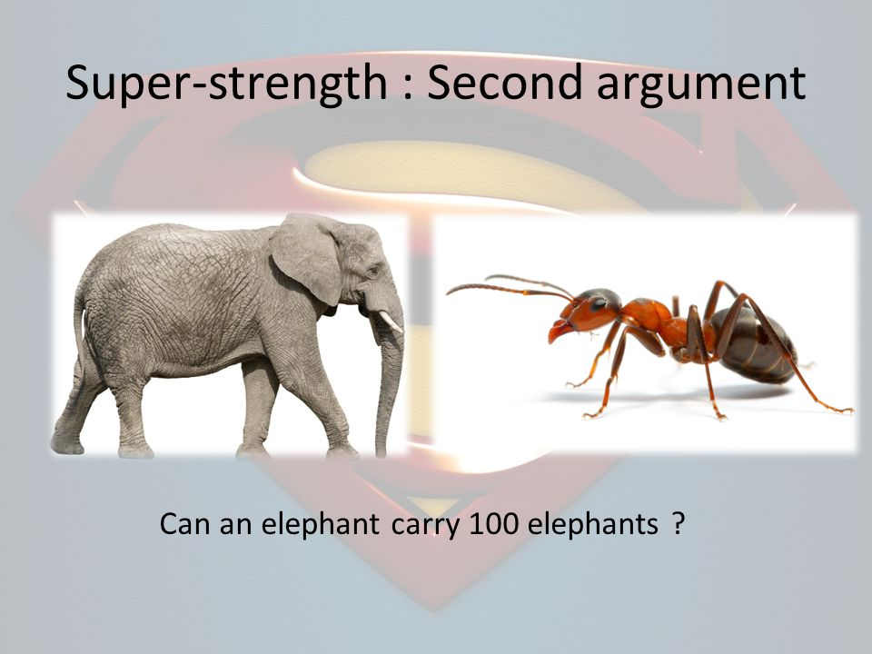 Can an elephant carry 100 elephants ?