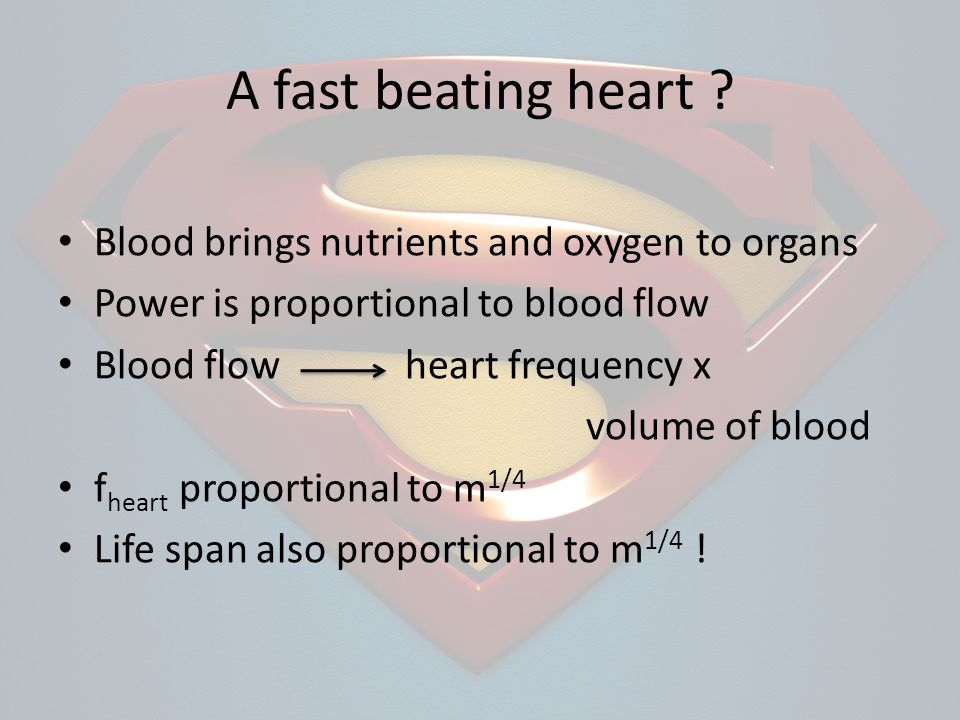 A fast beating heart .