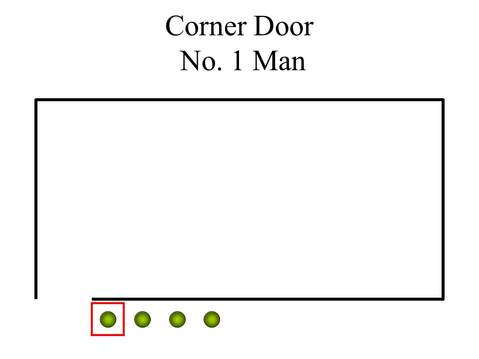 Corner Door No. 1 Man