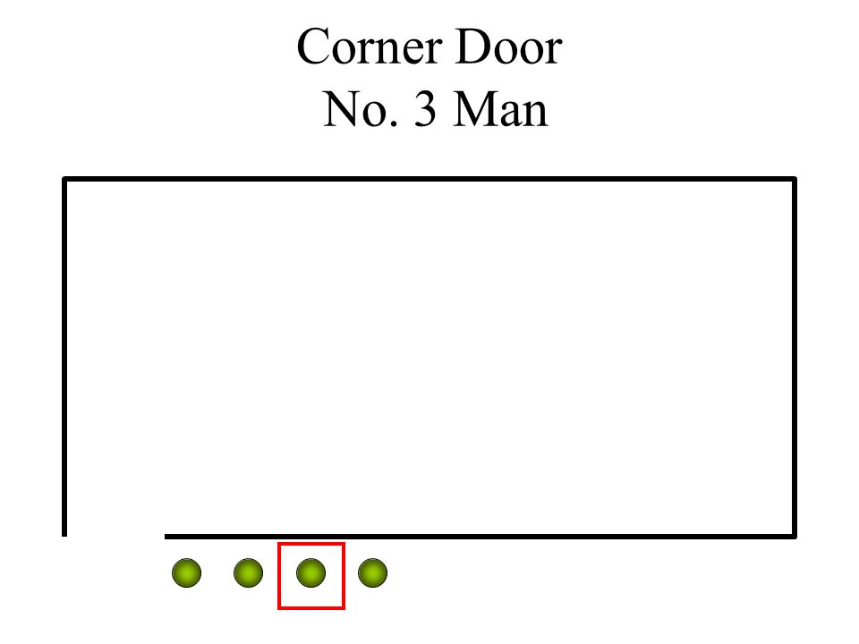 Corner Door No. 3 Man