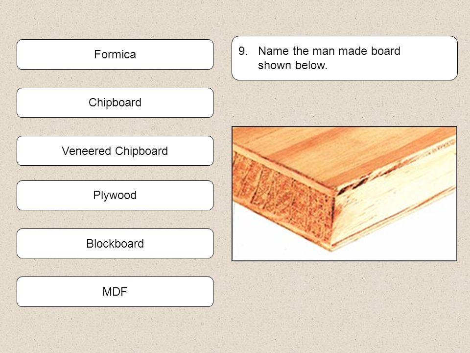 Plywood Blockboard 8. The material used to cover this floor is called.. Hardboard Chipboard MDF Veneered Chipboard