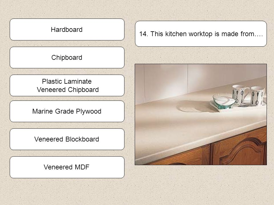 13.Which statement is incorrect? Blockboard is available with a wide range of facing veneers Blockboard sheets dont warp like solid timber Blockboard