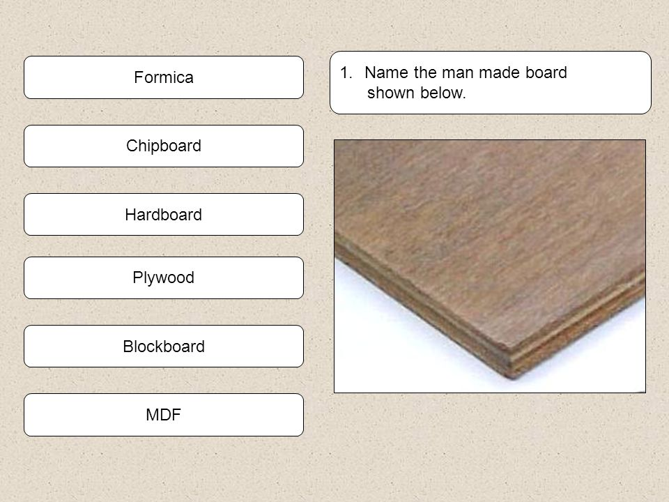 Man Made Board Quiz