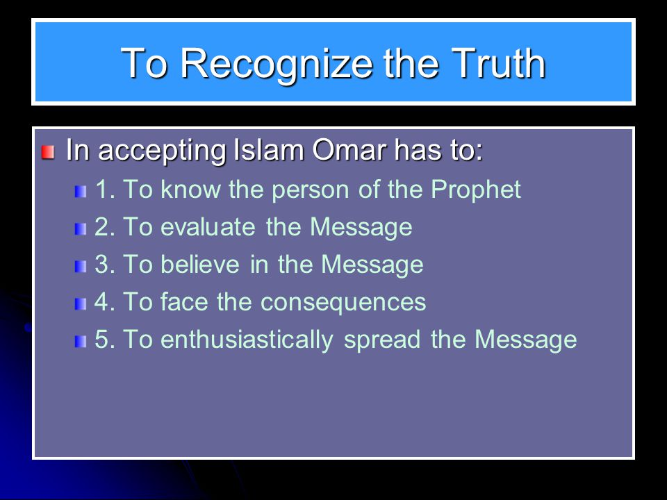 Tidbits about Converting to Islam Omar was in his twenties when he: Embraced Islam in the 6 th year of its advent, and It was just 3 days after al-Hamza became Muslim Omar accepted Islam one year after the immigration of the Muslims to Abyssinia It is claimed that Omar was the 40 th Muslim convert However, more than 80 Muslims had already emigrated to Abyssinia the year before Therefore he must have been the 40 th of the Muslims left in Mecca at the time As obnoxious as he used to be on the Muslims, Omar now became more severe and obnoxious on the pagans of Quraish and others.