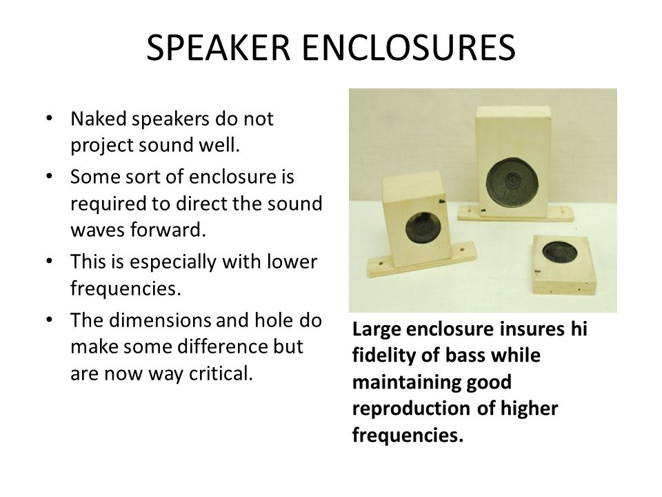 SPEAKERS Almost any small 8 speaker is more than enough for system.