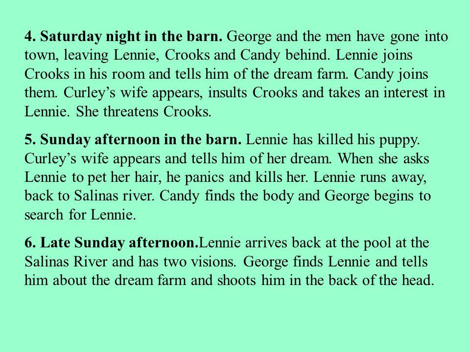 4.Saturday night in the barn.
