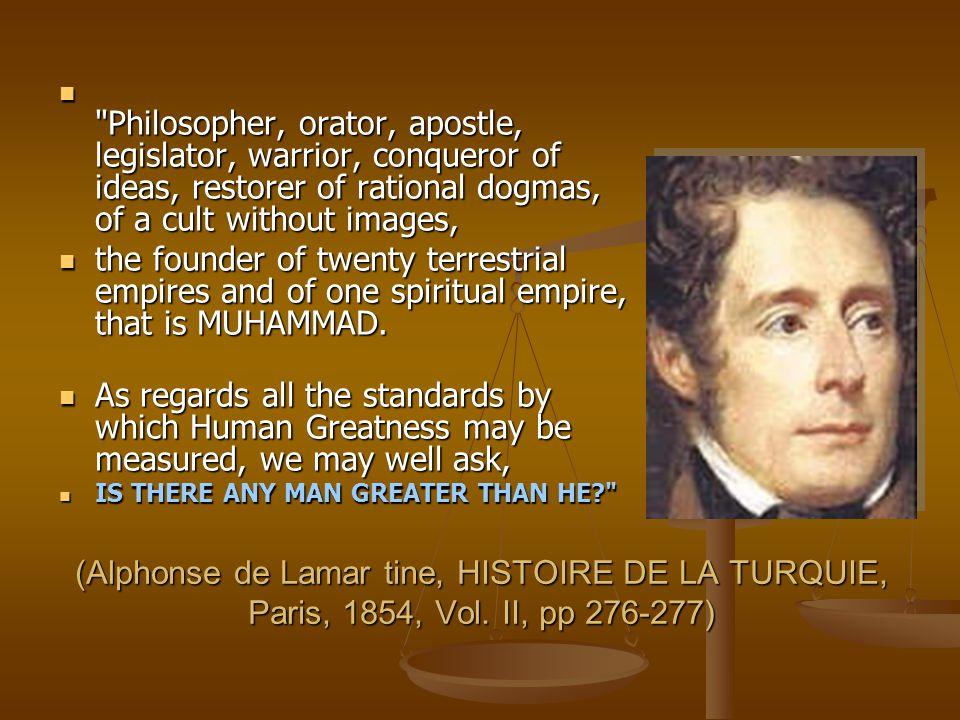 (Alphonse de Lamar tine, HISTOIRE DE LA TURQUIE, Paris, 1854, Vol.