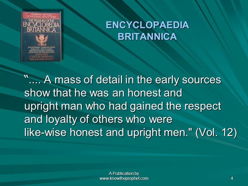 A Publication by   4 ENCYCLOPAEDIA BRITANNICA....